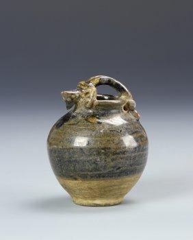Chinese Mini Black Glaze Jar
