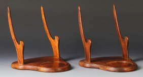 Pair Of Chinese Plate Stands