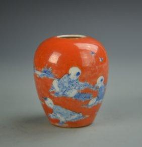 Salmon Red Jar