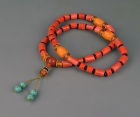Chinese Tibetan Coral Necklace