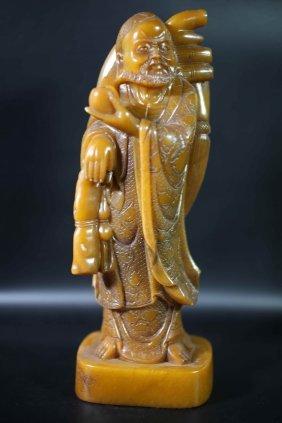 Chinese Old Shoushan Stone Bodhidharma