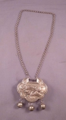 Chinese Antiques Children's Silver Locks
