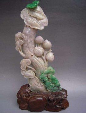 Chinese Green And Lavender Jade Ru Yi