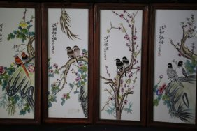 Set 20 Th' Chinese Famille Rose Porcelain Painting