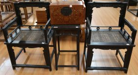3pc Old Chinese Rosewood Armchair