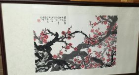 Old Chinese Plum Flower Painting