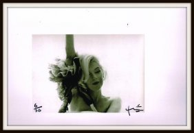 Marilyn Monroe With Arm Up. Bert Stern Signed.
