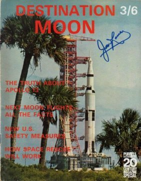 Jim Lovell Apollo 13 Signed Magazine.