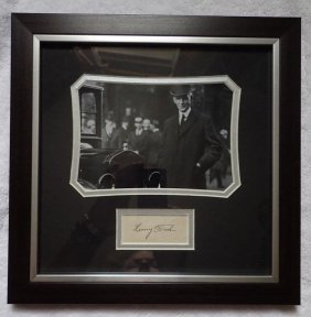 Henry Ford Signed Paper.