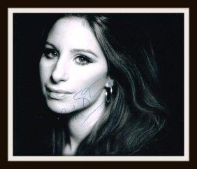Barbara Streisand Signed Photo.
