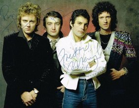 Queen Signed Colour Photograph.