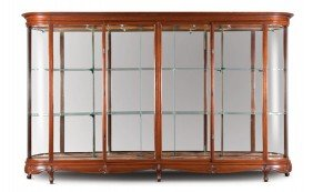 One Of A Pair Of Large Mahogany Display Cabinets