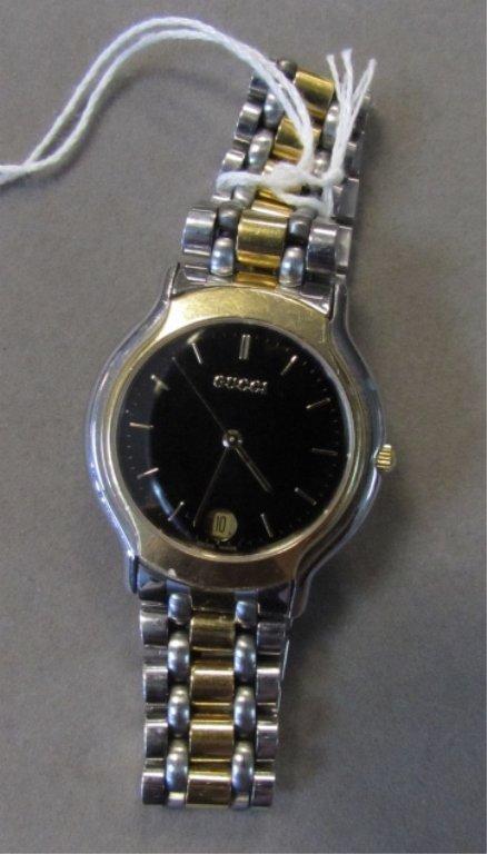 gucci watch 8000 m gold plated vintage watch uhr lot 309. Black Bedroom Furniture Sets. Home Design Ideas