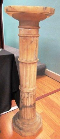 Marble Pedestal Stand Base Carved