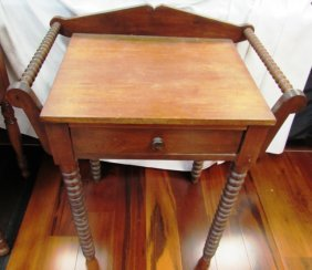 Antique Side Table Wood Carved