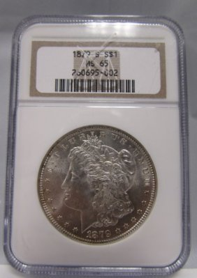1879 S Morgan Silver $1 Dollar Us Coin Ms 65 Ana