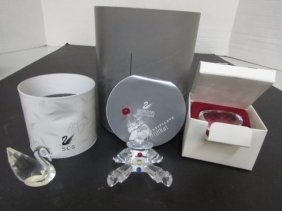 Swarovski Crystal Puppet,heart, Swan W Boxes