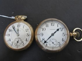 2 Antique Pocketwatches Waltham And Elgin Watch