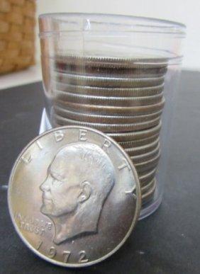 20 Eisenhower Silver Dollars 1971 -1978