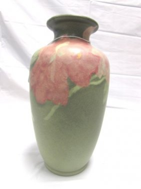 Weller Vase Floral Green Porcelain Ceramic