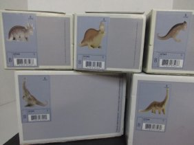 5 Lladro Dinosaurs Brutus Stretch Spike Rocky Rex