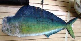 Dolphin Fish Sign Mount Mahi Week's Fish Camp