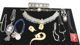 12 Pieces Costume Jewelry & Silver Comb