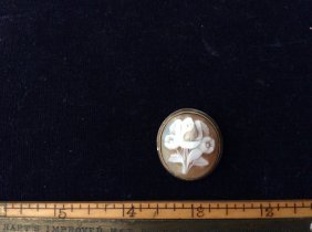 Cameo Floral Brooch Pendent