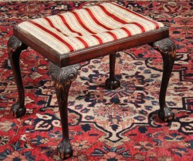 English Chippendale Style Mahogany Stool