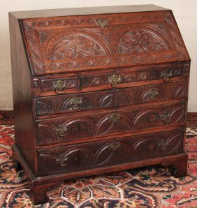 18th C. Georgian Irish Oak Bureau