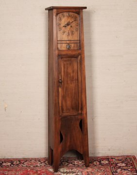 American Oak Grandfather Clock