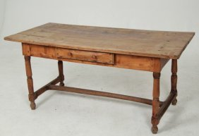 French Provincial Cherry Farmhouse Table