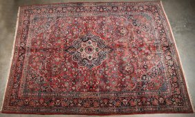 "Oriental Rug 9' X 12'2"", Semi Antique Persian Mahal"