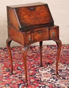 English Queen Anne Style Walnut Bureau