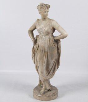 Alabaster Figure Of Classical Draped Figure