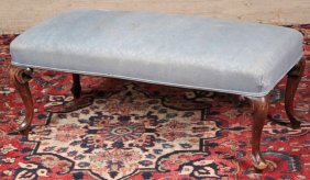 Queen Anne Style Mahogany Bench