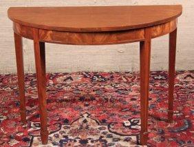 Hepplewhite Style Mahogany Console Table
