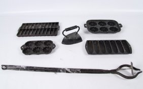 6 Pieces Of Assorted Cast Iron