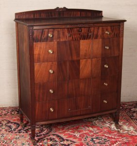 American Bowfront Mahogany Chest