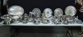Nice Box Lot Of Silver Plate