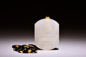 Jade Carved Guanyin Pendant