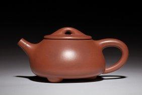 Yixing Zisha Tripod Teapot