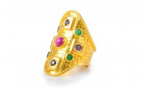 Lalaounis 18k Gemstone Ring
