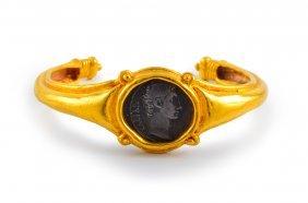Ancient Roman Coin Gold Bracelet