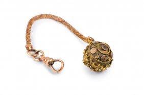 Antique Enamel Gold Watch Fob