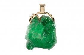 Carved Jade Dragon Pendant