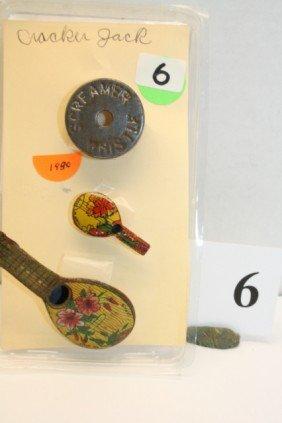 3 Metal Whistles Year 1930