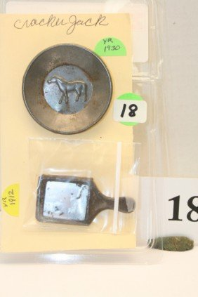 Metal Plate Year 1930 And Hand Mirror Year 1912