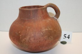 Redware Handled Pitcher