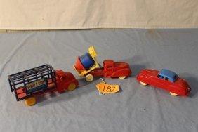 3 Plastic Cars